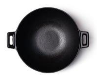 σίδηρος wok Στοκ φωτογραφία με δικαίωμα ελεύθερης χρήσης