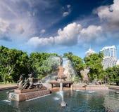 Σίδνεϊ, Αυστραλία. Χάιντ Παρκ και πηγή Archibald Στοκ Εικόνες