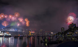 Σίδνεϊ 2014 πυροτεχνήματα Στοκ εικόνες με δικαίωμα ελεύθερης χρήσης