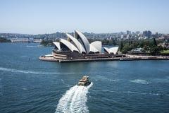 Σίδνεϊ, Όπερα και λιμάνι Στοκ εικόνα με δικαίωμα ελεύθερης χρήσης