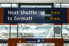 Σαΐτα Zermatt σταθμών Στοκ Φωτογραφίες