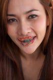 Σαγηνευτικό γλυκό στόμα-16 γυναικών Στοκ φωτογραφία με δικαίωμα ελεύθερης χρήσης