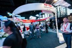 ΣΑΓΚΆΗ, ΚΙΝΑ - 31 ΑΥΓΟΎΣΤΟΥ 2016: Θάλαμος της επιχείρησης Toshiba στο Γ Στοκ Εικόνες