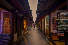 ΣΑΓΚΆΗ, ΚΙΝΑ - 29 ΙΑΝΟΥΑΡΊΟΥ 2017: Διάσημη πόλη νερού Zhouzhuang, αρχαία περιοχή πόλης με τα κανάλια και τα παλαιά κτήρια στοκ φωτογραφίες με δικαίωμα ελεύθερης χρήσης