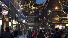 Σαγκάη - τουρίστας Mart Yuyuan απόθεμα βίντεο