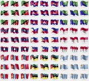 Σαιντ Κιτς και Νέβις, Καμπότζη, Νησί των Χριστουγέννων, Λάος, Φιλιππίνες, Ινδονησία, Μογγολία, Μοζαμβίκη, Ουρουγουάη Μεγάλο σύνολ διανυσματική απεικόνιση