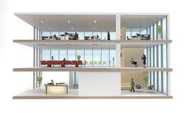 Σακάκι κτιρίου γραφείων που απομονώνεται στο λευκό απεικόνιση αποθεμάτων