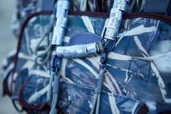 Σακίδιο πλάτης κυνηγών με τις ζώνες πουλιών Στοκ φωτογραφίες με δικαίωμα ελεύθερης χρήσης