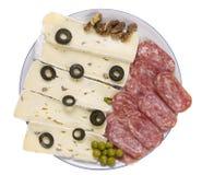 σαλάμι τυριών μαλακό Στοκ Εικόνες
