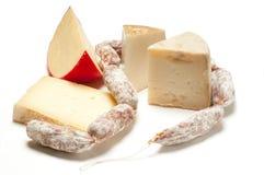 σαλάμι τυριών Στοκ φωτογραφία με δικαίωμα ελεύθερης χρήσης