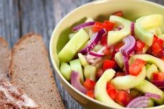 Σαλάτα αγγουριών Zesty στοκ εικόνα