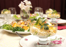 σαλάτα αυγών κύπελλων Στοκ εικόνες με δικαίωμα ελεύθερης χρήσης