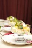 σαλάτα αυγών κύπελλων Στοκ Εικόνες