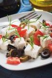 σαλάτα ελιών τυριών Στοκ Εικόνα