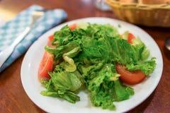 Σαλάτα θερινών ντοματών και πράσινη σαλάτα Στοκ φωτογραφία με δικαίωμα ελεύθερης χρήσης