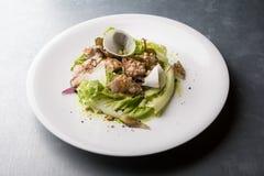 Σαλάτα κοτόπουλου με το μαρούλι, Στοκ Εικόνες