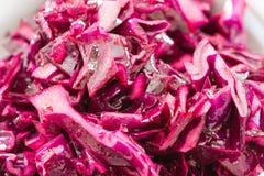 Σαλάτα κόκκινων λάχανων που κόβεται στα κομμάτια Στοκ φωτογραφία με δικαίωμα ελεύθερης χρήσης