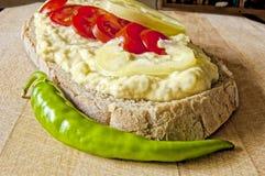 Σαλάτα μελιτζάνας με τις ντομάτες κερασιών στοκ φωτογραφίες