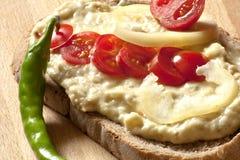 Σαλάτα μελιτζάνας με τις ντομάτες κερασιών στοκ φωτογραφίες με δικαίωμα ελεύθερης χρήσης