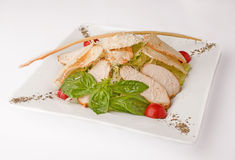 Σαλάτα με το κρέας και το λαχανικό Στοκ εικόνα με δικαίωμα ελεύθερης χρήσης