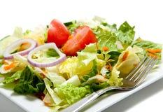 σαλάτα πιάτων δικράνων που & Στοκ φωτογραφία με δικαίωμα ελεύθερης χρήσης