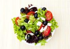 σαλάτα πιάτων χαλιών μπαμπού Στοκ φωτογραφίες με δικαίωμα ελεύθερης χρήσης