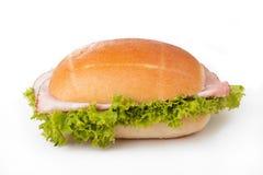 σαλάτα ρόλων ζαμπόν ψωμιού Στοκ Φωτογραφίες