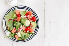 Σαλάτα φρούτων και λαχανικών στο πιάτο στοκ εικόνα με δικαίωμα ελεύθερης χρήσης