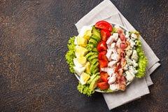 Σαλάτα Cobb, παραδοσιακά αμερικανικά τρόφιμα στοκ φωτογραφίες