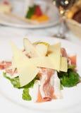 σαλάτα prosciutto αχλαδιών ζαμπόν τ&upsi Στοκ Εικόνες