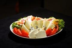 σαλάτα prosciutto ζαμπόν τυριών Στοκ Εικόνα
