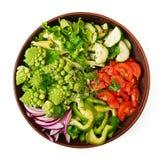 Σαλάτα Vegan των φρέσκων λαχανικών και του romanesko λάχανων Στοκ Εικόνες