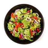 Σαλάτα Vegan των φρέσκων λαχανικών και του romanesko λάχανων Στοκ Φωτογραφία