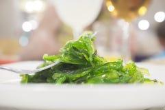 Σαλάτα Wakame στο πιάτο στοκ εικόνες