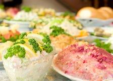 σαλάτες εστιατορίων συ&m Στοκ Φωτογραφίες