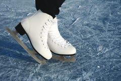 Σαλάχια γυναικών ` s στον πάγο Στοκ Φωτογραφία