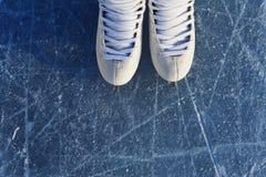 Σαλάχια γυναικών ` s στον πάγο Στοκ φωτογραφία με δικαίωμα ελεύθερης χρήσης