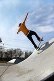 σαλάχι πάρκων skateboarder Στοκ Εικόνες