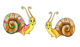 σαλιγκάρια δύο σχεδίων Απεικόνιση αποθεμάτων