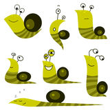 σαλιγκάρι συλλογής κινούμενων σχεδίων Στοκ Φωτογραφίες