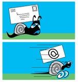 σαλιγκάρι ταχυδρομείου διανυσματική απεικόνιση