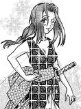 Σαμουράι manga κοριτσιών που ορίζεται Στοκ Εικόνα
