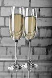 σαμπάνια δύο wineglasses Στοκ Φωτογραφία