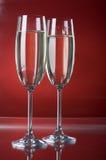 σαμπάνια δύο wineglasses Στοκ Φωτογραφίες
