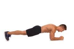 Σανίδα αγκώνων Isometric άσκηση στομαχιών Στοκ εικόνες με δικαίωμα ελεύθερης χρήσης