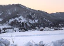 Σανατόριο σε Danilovka στους λόφους στοκ εικόνα