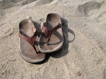 σανδάλια παραλιών Στοκ Φωτογραφίες