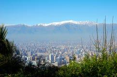 Σαντιάγο de Χιλή από Cerro SAN Cristobal στοκ φωτογραφίες με δικαίωμα ελεύθερης χρήσης