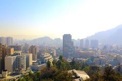 Σαντιάγο de Χιλή, πανοραμικός ορίζοντας άποψης Στοκ Φωτογραφίες