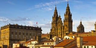 Σαντιάγο de Compostela Cathedral Γαλικία Ισπανία Στοκ φωτογραφία με δικαίωμα ελεύθερης χρήσης